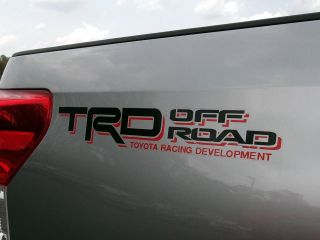 Toyota Tundra TRD Off Road Sticker Decal Red & Black