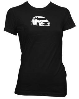 SUZUKI SWIFT LADIES RETRO CLASSIC CAR T SHIRT CA215