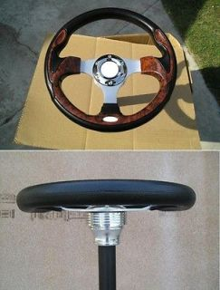 Newly listed F804 Wood look 12.5  steering wheel & adapter for 1984