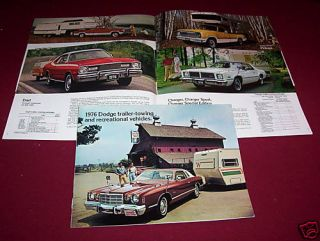 1976 DODGE CAR, TRUCK, VAN, CAMPERS, BROCHURE, CATALOG