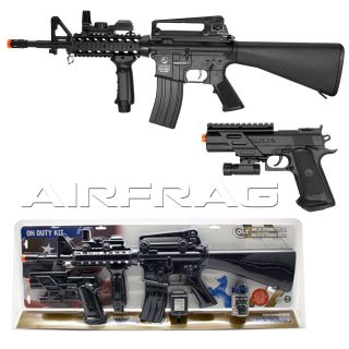 Field Duty Automatic Electric Airsoft Gun Kit 310FPS with Bonus Pistol