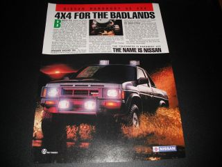Nissan Hardbody SE 4x4   For The Badlands 1987 Magazine Print Ad