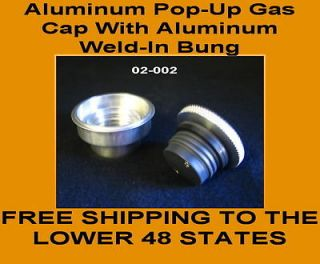 ALUMINUM POP UP GAS CAP WWELD IN BUNG HARLEY & CUSTOMS