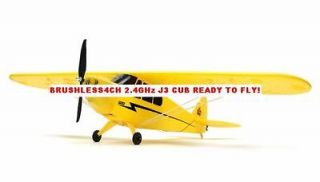RC Airplane J3 PIPER CUB BRUSHLESS 2.4GHz 4CH RTF w/ LiPo & Charger 42