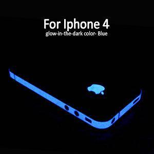 in the dark Edge skin Luminous Sticker apple logo film for iPhone 4