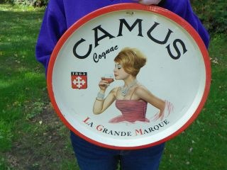 Vintage Camus Cognac Advertising Serving Tray EUC La Grande Marque