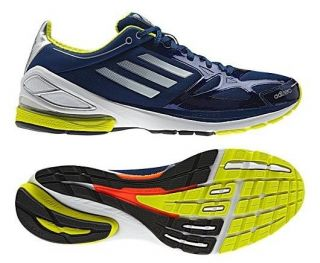 New Adidas adiZero F50 2.0 Mens Shoes Dark Blue White Gray Yellow