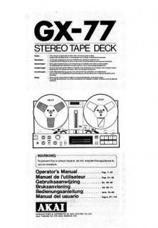 Akai GX 77 in Reel to Reel Tape Recorders