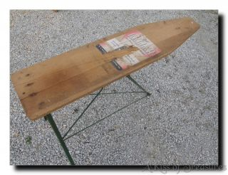 Vintage Keller Wood Wooden Metal Iron Ironing Board Table