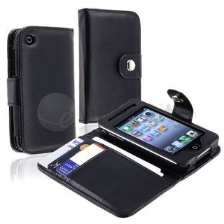 BLACK LEATHER CASE COVER Pouch Accessory Fit For Apple iPhone 3G 3Gs S