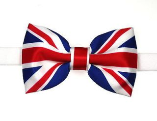 Union Jack Flag Bow Tie (Pre tied)