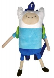 ADVENTURE TIME Finn Plush Tote Bag Backpack NEW 21 Licensed Cartoon