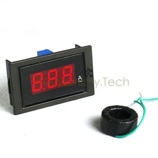 AC 0/100A LED Red Amp Meter Amp NO SHUNT Require Power 8 12V
