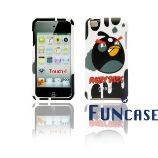 Angry Bird (Black) iPod Touch 4 hard case with Faceplate snap on US
