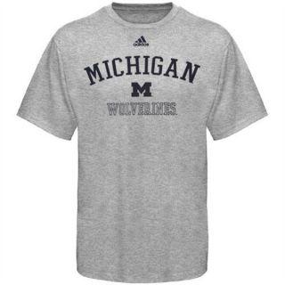 Michigan Wolverines Adidas Grey Practice T Shirt sz 5XL