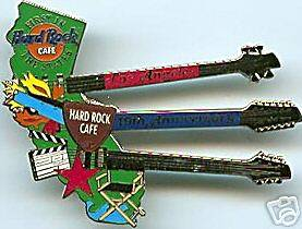 Cafe LOS ANGELES 2001 19th Anniversary PIN State Triple Neck Guitar