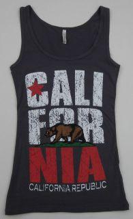 CALIFORNIA REPUBLIC Tank Top Los Angeles Cali RUN DMC Womens Juniors S