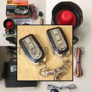 Car Alarm Security System + Remote Central Locking Kit Shock Sensor