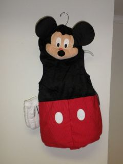 Plush Mickey Mouse Costume childs Size 5T NWT Squeaking