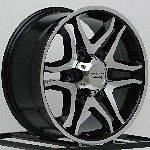 17 Inch Black Wheels Rims Chevy Truck 2WD Tahoe GMC Yukon Suburban 5