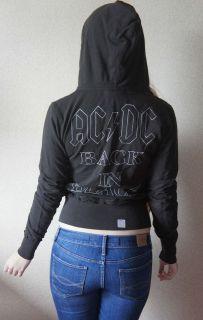 New Junk Food AC/DC Back in Black Zip Up Ladies Hoodie