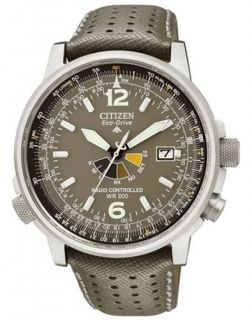 CITIZEN PROMASTER ECO DRIVE RADIO MILITARY NIGHTHAWK PILOTS WATCH