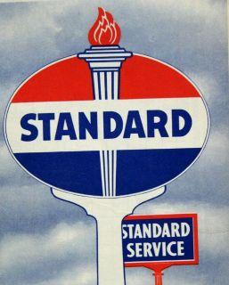 STANDARD OIL SOUTH DAKOTA AUTOMOBILE HIGHWAY ROAD MAP 1948 VINTAGE GAS