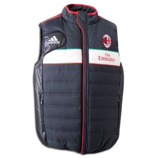 NEW Mens Adidas AC MILAN Soccer Football UEFA Europe Padded Jacket