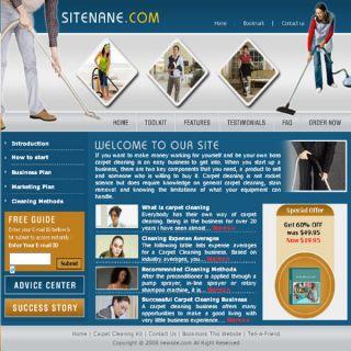 Established Carpet Cleaning Guide Website Business sale