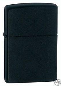 Zippo Black Matte Full Size Lighter, Low Shipping, 218