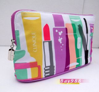 New Clinique Modern City Style Cosmetic Makeup Purse Bag