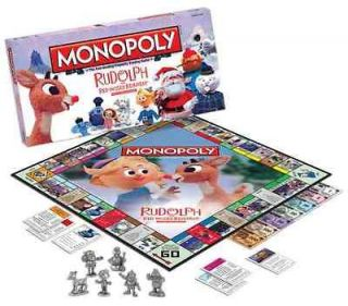RUDOLPH RED NOSE REINDEER 4 GAMES MONOPOLY, OPERATION, MEMORY, PUZZLE