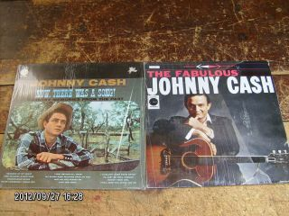 pc lot vintage JOHNNY CASH LP 33 record albums