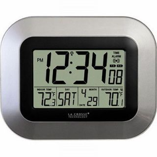 Crosse Technology Atomic Digital Wall Clock with Date and Temp Display