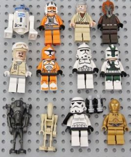 LEGO STAR WARS MINIFIGURE ENDOR REBEL TROOPER MANADLORIAN D2 R2 CLONE