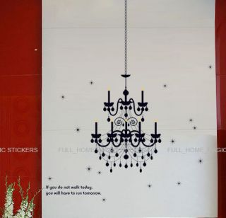 Chandelier Candles Wall Stickers Vinyl Art Decal Mural Wallpaper