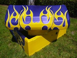 CLUB CAR DS GOLF CART CUSTOM FLAMES PAINT FRONT+ REAR BODY COWL Any
