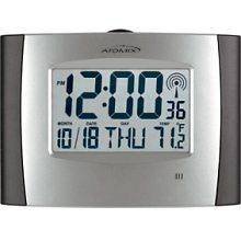 Radio Controlled Digital Atomic Clock Alarm Temperature Chaney