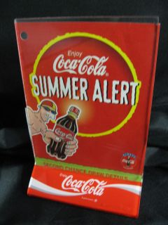 Coca Cola Table Menu / Ad / Sign Holder with 1997 Contest Ad and Entry