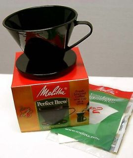 Melitta PERFECT BREW Cone Filter Cup Coffee Maker BLACK FREE USA / $1