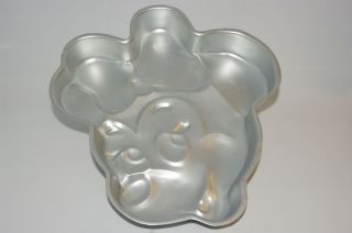 WILTON*DISNEY MINNIE MOUSE cake pan/bake mold/jello tin Happy Birthday