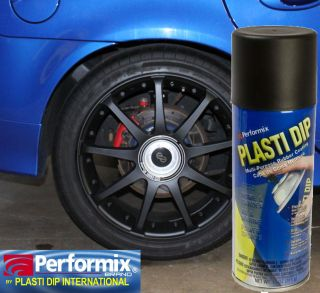 Matte BLACK Rubber Wheel RIM Tire Coating Spray 11oz