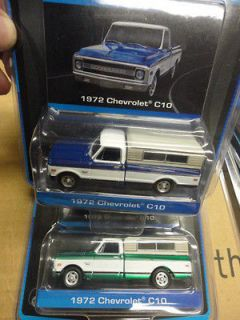 1972 Chevrolet C10 Pickup Truck With Camper Shell Green Machine Set