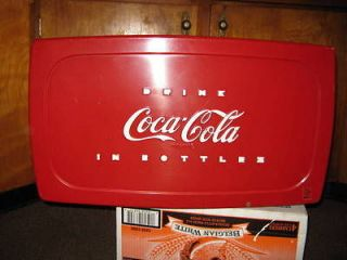 Nice Vintage All Metal Coca Cola Cooler With Tray