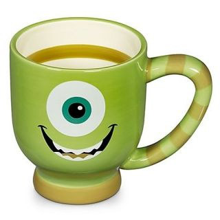 Disney Park Monsters Inc Mike Wazowski Ceramic Coffee Cup Mug NEW