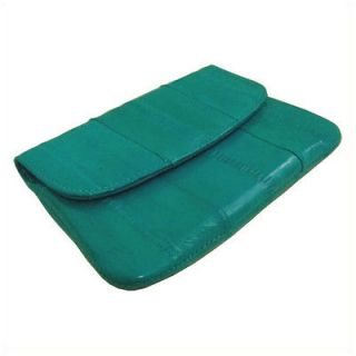 NEW Genuine Eel Skin Leather Coin Purse Wallet TEAL
