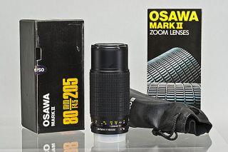 Mamiya E Mount Osawa MC 80 205mm f/4.5 Macro Zoom Lens Used ZE ZE 2 ZE