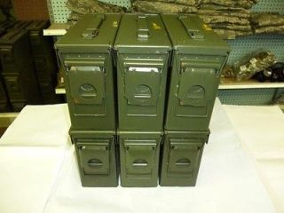 Lot of Six(6) M19A1 (.30 Cal) Ammo Cans, USED