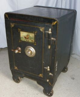 Working Combination Antique Iron Safe