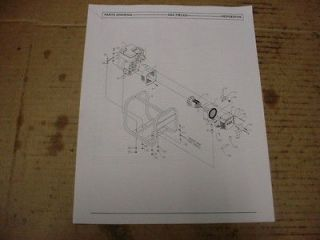 COLEMAN POWERMATE PM0523001 PL0523001 GENERATOR PARTS LIST MANUAL